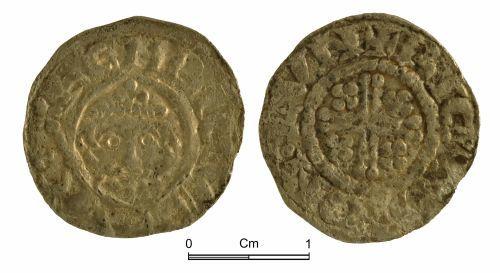 NMGW-70E478: Medieval coin: 'Short Cross' penny; class 4a