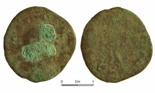 NMGW-72057D: Roman coin: Probably a nummus and possibly of GENIO POP ROM type