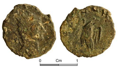 NMGW-02EB63: Roman coin: Divus Claudius II, radiate, Rome, commemorative