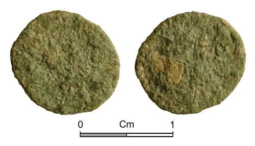 NMGW-040EE3: Roman coin: Probably an irregular nummus of late 3rd or 4th century