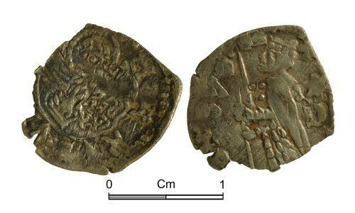 NMGW-069B7C: Medieval coin: Venice, soldino, probably Michele Steno