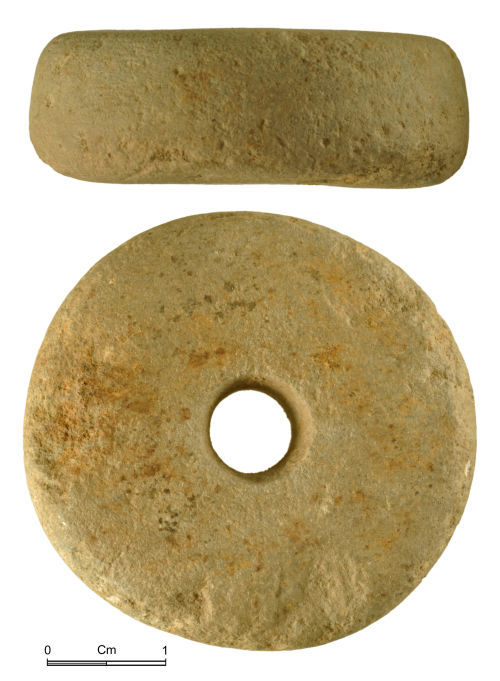 NMGW-5BE81F: Stone spindle-whorl of uncertain date, Roman to early Post Medieval