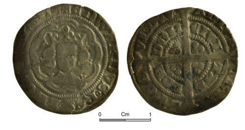 NMGW-06C9A9: Medieval coin: Edward III, half groat, London