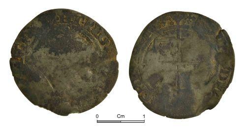 NMGW-06DEFA: Post medieval coin: Elizabeth I, groat, London