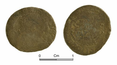 NMGW-C97676: Post medieval coin: Charles I, half groat, London