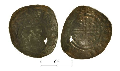 NMGW-6447FE: Medieval Coin: Short Cross penny, Class 4a-b; probably Ricard, London