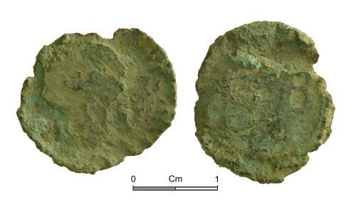 NMGW-646658: Post Medieval Coin: City of Bristol farthing token CB; date illegible