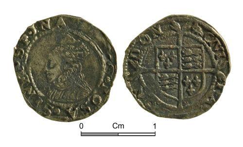 NMGW-662DDA: Post Medieval Coin: Elizabeth I, penny, London