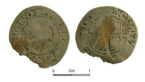 NMGW-679D91: Post Medieval Coin: Elizabeth I, half groat, London