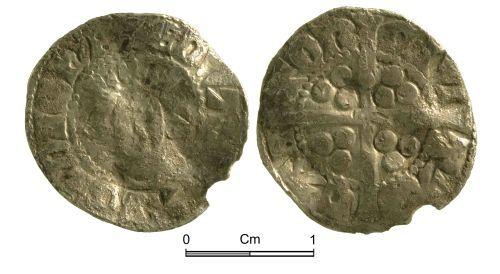 NMGW-67B02B: Medieval Coin: Edward II, penny, Canterbury