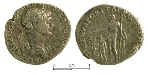 NMGW-696D77: Roman Coin: Trajan, denarius, Rome