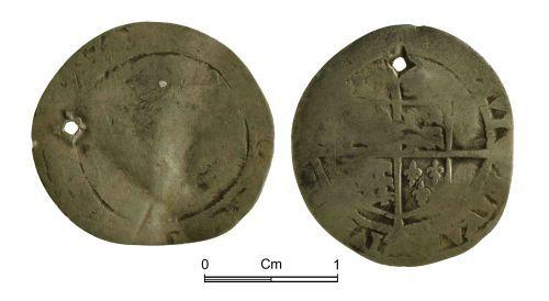 NMGW-D0D57B: Post Medieval Coin: Elizabeth I, threepence, London