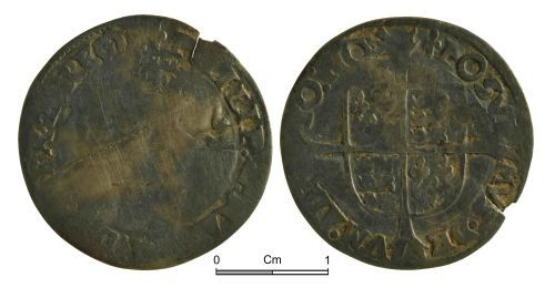 NMGW-D21001: Post Medieval Coin: Philip & Mary, groat, London