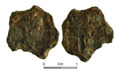 NMGW-D26A71: Roman Coin: Counterfeit denarius of Caracalla