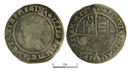NMGW-799524: Post Medieval Coin: Elizabeth I, sixpence, London