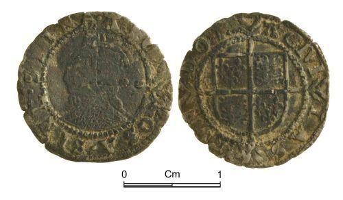 NMGW-7D5516: Post Medieval Coin: Elizabeth I  half groat, London
