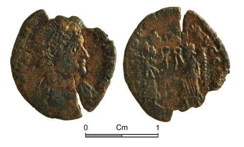 NMGW-7D6D9A: Roman Coin: Constans, Augustus, nummus