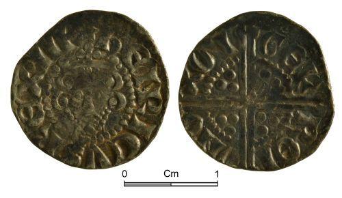 NMGW-D42684: Medieval Coin: Short Cross cut farthing