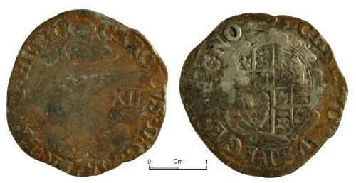 NMGW-54FDFE: Post Medieval Coin: Charles I, shilling, London