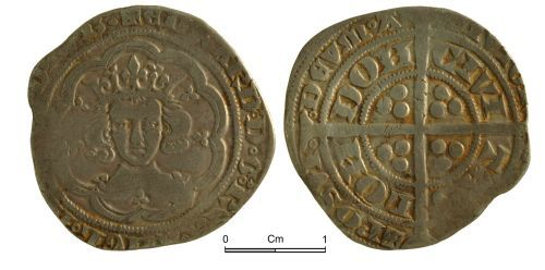 NMGW-E90A13: Medieval Coin: Edward III, groat, London