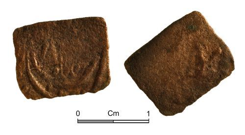 NMGW-E7E092: Post Medieval Token: Copper farthing token, Youghal