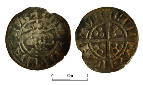 NMGW-8EB0BC: Medieval Coin: Edward I, penny, Canterbury; Class 4a