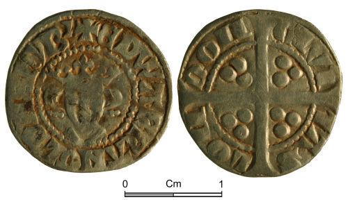 NMGW-8ED8A7: Medieval Coin: Edward I, penny, London; Class 10ab
