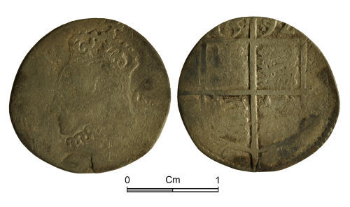 NMGW-8FA29A: Post Medieval Coin: Elizabeth I, sixpence, London