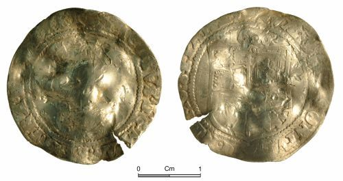 NMGW-3A2723: Post Medieval Coin: James I; sixpence, London