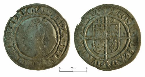 NMGW-8F10AE: Medieval Coin: Elizabeth I; sixpence, London