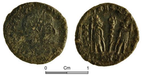 NMGW-B46ACB: Roman Coin: Constantine II; nummus, Trier