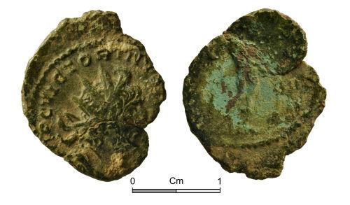 NMGW-C9B2A6: Roman Coin: Victorinus In Gaul; radiate