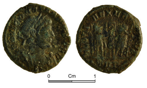 NMGW-A4E60D: Roman Coin: Constantius II Augustus; nummus, Trier