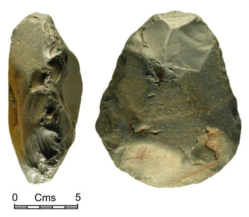 NMGW-335F61: Neolithic worked stone possibly an axehead