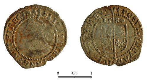 NMGW-34DADA: Post Medieval Coin: Elizabeth I, threepence, London