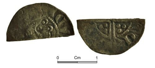 NMGW-64AFB0: Medieval Coin: Henry III 'Long Cross' cut halfpenny