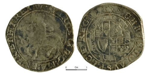 A resized image of Post Medieval Coin: Charles I, half crown, London