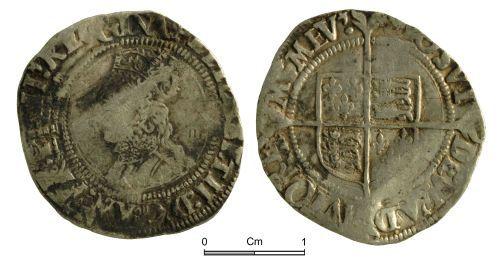NMGW-1332DB: Post Medieval Coin: Elizabeth I, groat, London