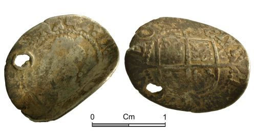 A resized image of Post Medieval Coin: Elizabeth I, half groat, London