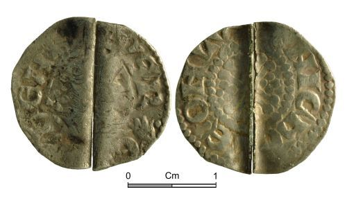 NMGW-108A29: Medieval Coin: Short Cross penny; Class 8