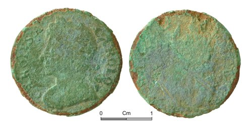 NMGW-205122: Post Medieval Coin: Charles II, farthing
