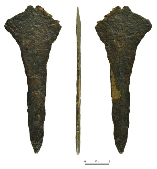 NMGW-487432: Bronze Age blade: possibly a dirk of Group IV
