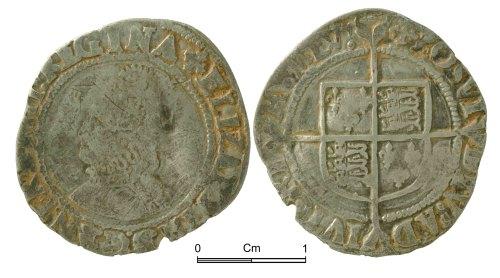 NMGW-4AF147: Post Medieval Coin: Elizabeth I, groat, London