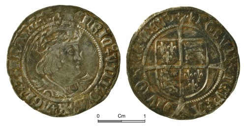 NMGW-4BC57E: Post Medieval Coin: Henry VIII, groat, London