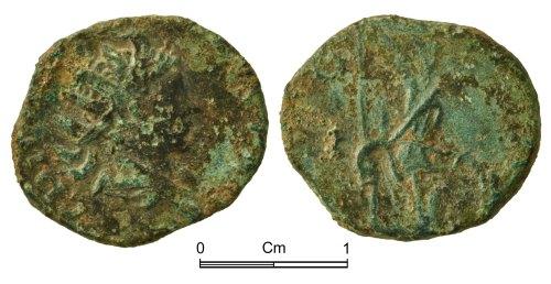 NMGW-727F48: Roman Coin: Tetricus II, radiate