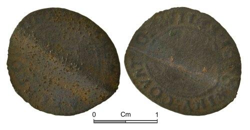 NMGW-7534B0: Post Medieval token: Farthing token of Marlborough Town
