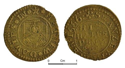 NMGW-E051FD: Post Medieval token