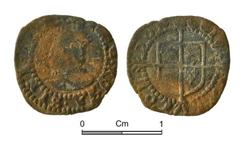 NMGW-E0809E: Post Medieval Coin: Elizabeth I, penny, London