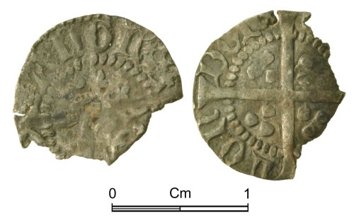 NMGW-F1E3BC: Medieval Coin: Henry V, halfpenny, London