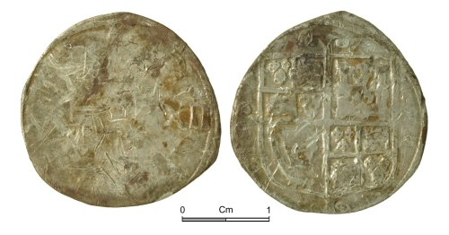 NMGW-F0DC27: Post Medieval Coin: Charles I, shilling, London